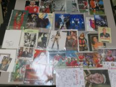 Signed photos including Suzi Quatro, Gwen Stefani, Kim Wilde, Jodie Prenger, Fuzzbox,