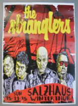Lot 105 - THE STRANGLERS signed poster from the Salzhaus in Winterhur, Switzerland, measuring 16.