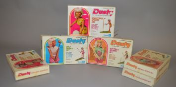 EX-SHOP STOCK: Six Kenner Dusty doll Sports Set including Softball Champion,