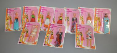 EX-SHOP STOCK: Ten Mini Fashion Dolls all appear still sealed on bubble cards (10).