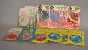 EX-SHOP STOCK: Fifteen Denys Fisher Sweet April and Shillman Mini-Mod fashion doll clothing outfit
