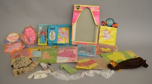 EX-SHOP STOCK: A mixed lot of assorted vintage Fashion doll accessories including a Dancing Dawn