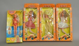 EX-SHOP STOCK: Three Faerie Glen Gigi Fashion Dolls together with an Ideal Suntan Doll,