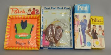 EX-SHOP STOCK: Paul doll in original box along with Paul outfit set and Patch outfit set,