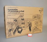 EX-SHOP STOCK: Sindy's 'Scenesetter' with Armchair and Doll 4930063C,,