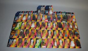 Fifty Kenner/Hasbro Star Wars Power of The Force 2 action figures, sealed on VG cards (50).