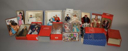 EX-SHOP STOCK: Twelve boxed assorted Peggy Nisbett costume dolls,