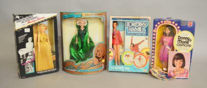 EX-SHOP STOCK: Four vintage celebrity inspired Fashion Dolls including Mattel Marie Osmond,