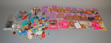 EX-SHOP STOCK: Six Pedigree Sindy doll Accessory sets, sealed.