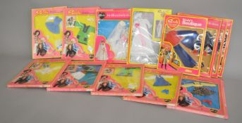EX-SHOP STOCK: A selection of Pedigree Sindy dolls 1970s clothing outfit sets, '#44312 Jet Setter',