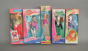 EX-SHOP STOCK: Five Pedigree Sindy and Marie dolls, all boxed.