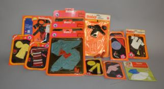 EX-SHOP STOCK: Twelve Flair Toys Mary Quant Daisy doll Clothing Accessory sets together with a