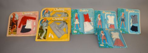 EX-SHOP STOCK: Seven Kenner Dusty doll Clothing accessory sets (7).
