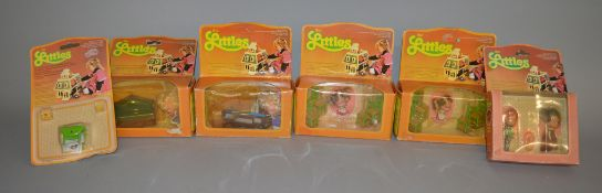 EX-SHOP STOCK: Six Mattel The Littles dolls and furniture sets, all boxed/carded (6).