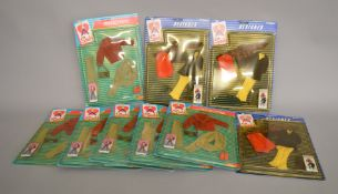 EX-SHOP STOCK: Nine Pedigree Sindy doll Clothing Accessory Outfits including Designer and