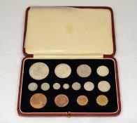 ROYAL MINT - 1937 complete specimen coin set,