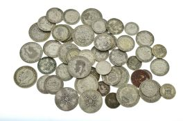 A bagged quantity of pre 47 silver coins,