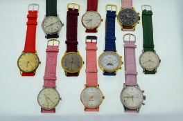 10 working mechanical wristwatches.