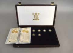 Six Royal Mint fine gold commemorative coins of 'The Precious Fine Gold Collection' to include,