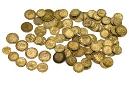 A mixed quantity of pre 47 silver coins, approx gross weight 310.