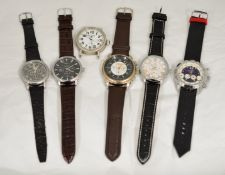 A boxed quantity of 6 working automatic wristwatches.