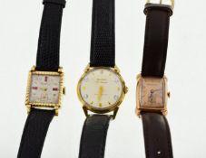BULOVA - Three Bulova gold plated wristwatches,