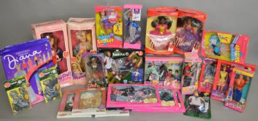 A mixed lot of dolls and clothing outfits, which includes; The Original Mummy doll and baby,