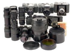 Zenith & Other Collectors Cameras & Lenses. To include Zenit 11 with CZJ 135mm f3.