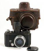 Black Robot Luftwaffen Clockwork Camera. #F-48088-6. (condition 5/6F) working.