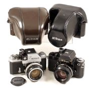 "Early Chrome ""Red Dot"" Nikon F Photomic T & Nikon F2 Cameras."