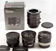 Pentax Ultra Wide Angle & Other Lenses. To include Vivitar 17mm f3.