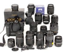 Extensive Canon EOS-1n Film Camera & EF Lens Outfit.