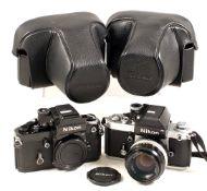 Pair of Nikon F2 Cameras.