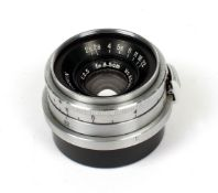 Chrome W-Nikkor 3.5cm f2.5 Contax/Nikon Rangefinder Fit Lens. (condition 4F).