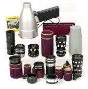 Set of Periflex L39 Mount Lenses. Comprising Retro-Lumix 35mm f3.5, 50mm Lumax f2.4, Lumar 95mm f2.