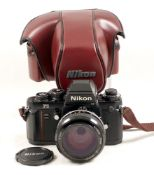 Nikon F3 HP Camera #1761751. (condition 4/5F). With FAST Nikkor 55mm f1.2 lens #405080 and ERC.