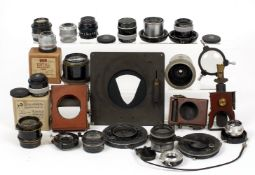 Quantity of Vintage Shutters, plus Taylor Hobson & Other Lenses.
