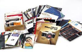 Large Quantity of Camera & Accessory Brochures & Manuals.