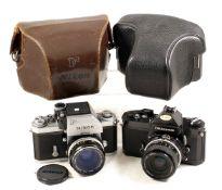 Nikon F & an Uncommon Black Nikkormat FT3 Camera. Black Nikkormat FT3 #6117992 with Nikkor 24mm f2.