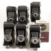 6 Ensign Ranger Roll Film Cameras.