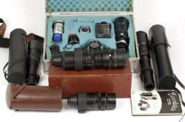 Extensive Exakta Varex IIa Camera & Lens Outfit. Comprising camera with Domplan 50mm f2.