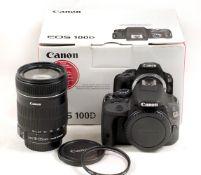 Canon EOS 100D DSLR Kit.