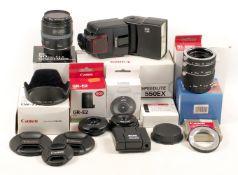 Canon 50mm f2.5 Macro Lens, Speedlite 550EX & Other Accessories.