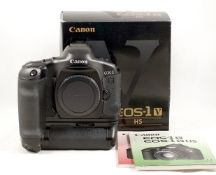 Canon EOS-1 V HS Pro-Film Camera. The last film camera from Canon. With battery grip.