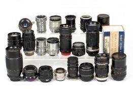 Quantity of Exakta & M42 Mount Lenses & a Dallmeyer Dalrac 13.5cm Lens.