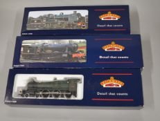 OO Gauge. 3 boxed Bachmann Locomotives, 32-152 N Class 31813  BR lined black Late Crest, 31-776