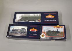 OO Gauge. 3 boxed Bachmann Locomotives, 31-902A 57xx BR black L/C '5775', 32-135Y  4575 Prairie Tank