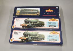 OO Gauge. 3 boxed Bachmann Locomotives, 31-803 93XX BR Green '7332',  31-802 93XX BR black '9308'