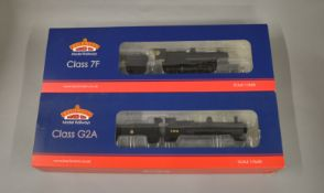 OO Gauge. 2 boxed Bachmann DCC Locomotives, 31-011 Class 7F BR black '53809' and 31-475 Class G2A '