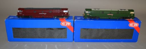 OO Gauge. 2 boxed Heljan Diesel Locomotives, 5201 D1037 Empress and 5209 D1010 Champaigner, both